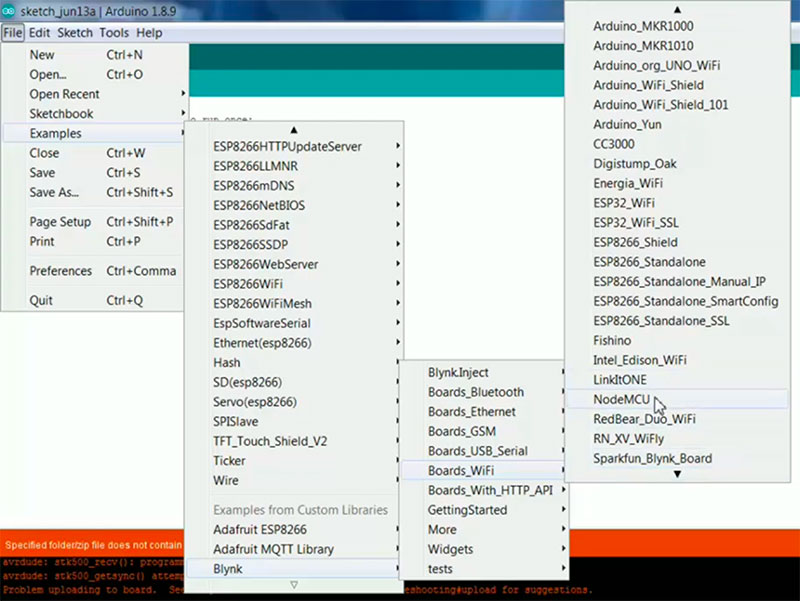 how to add Blynk library in Arduino