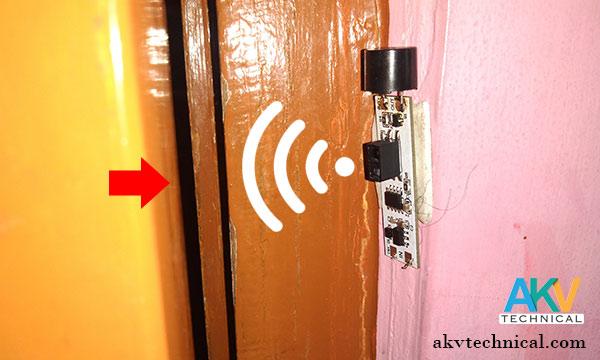 Proximity sensor security alarm opration