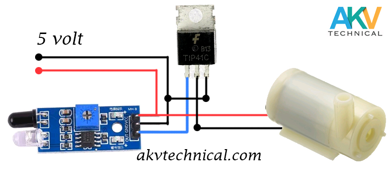 automatic water tap circuit diagram