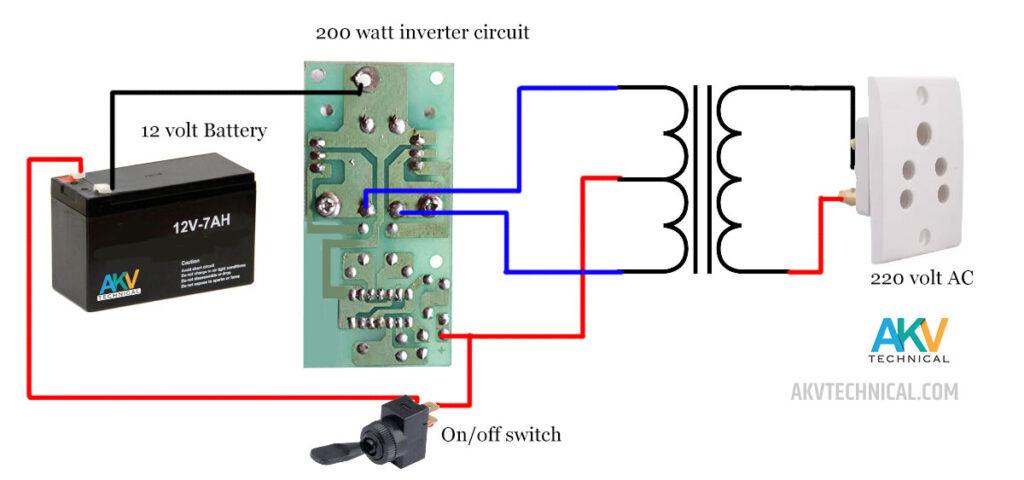 200 watt inverter-circuit
