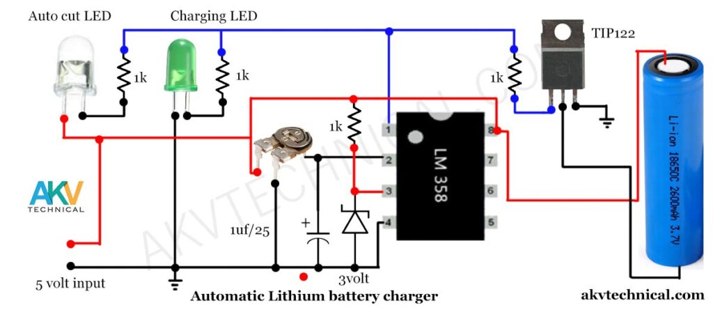 Automatic Lithium battery Charger
