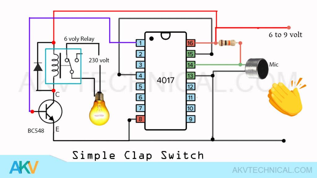 Clap switch AC 220 volt
