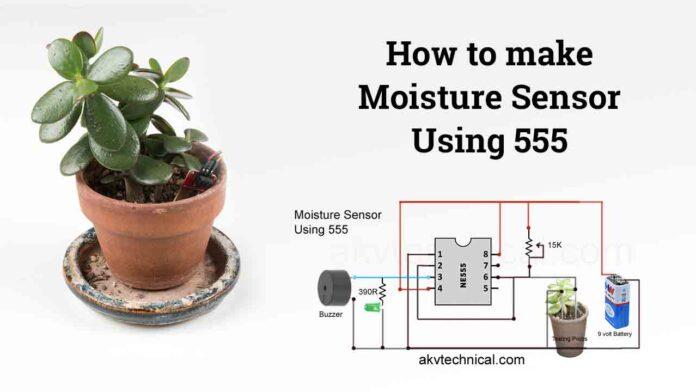 How-to-make-Moisture-Sensor-Using-555