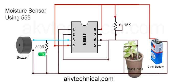 Moisture-Sensor-Using-555