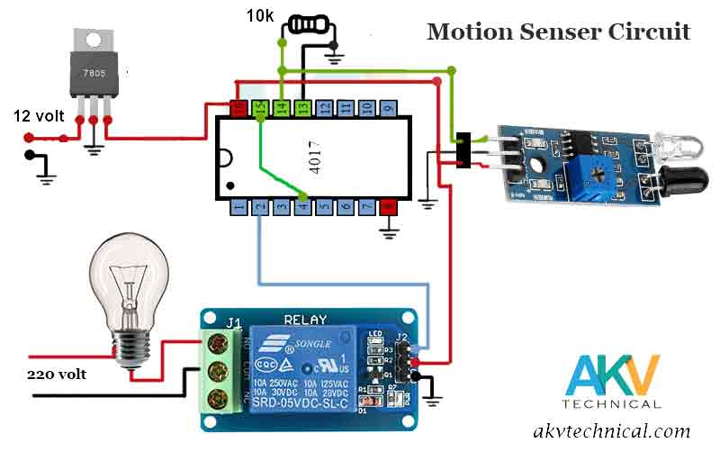Hand Motion Switch circuit